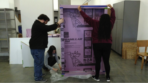 IARc Students Working in Studio